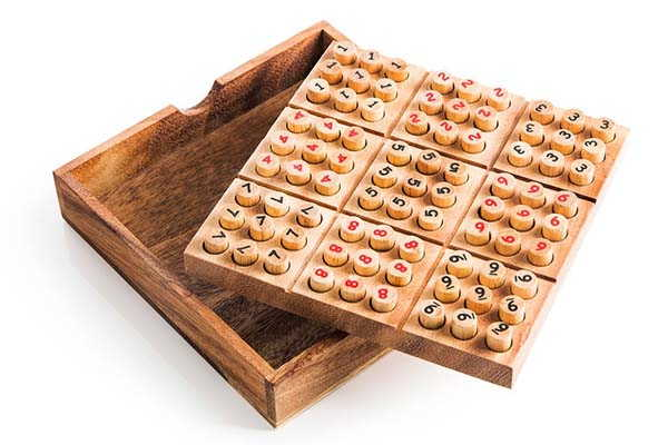 Handmade Wooden Sudoku Puzzle Game Set