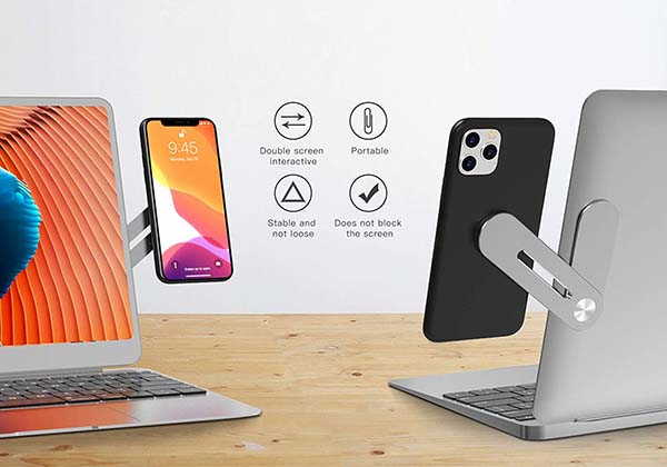 Iootmoy Magnetic Phone Mount for Laptop and Slim Monitor