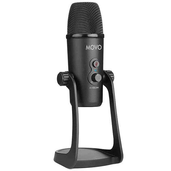 Movo UM700 Desktop USB Microphone with Four Pickup Patterns