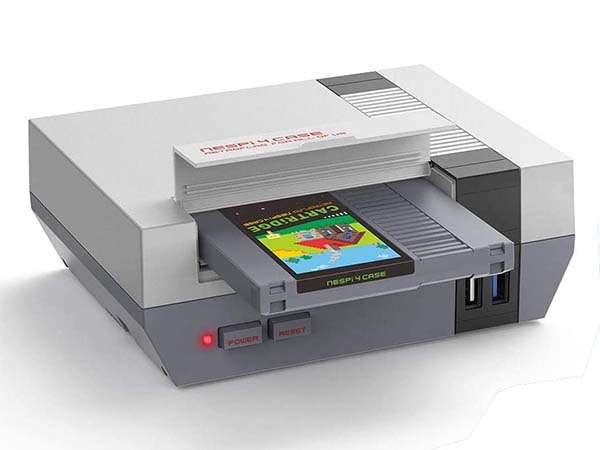 NESPi NES-Shaped Raspberry Pi 4 Case with Game Cartridge Styled SSD Enclosure
