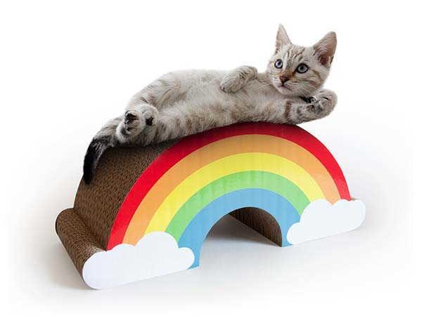 Rainbow Inspired Cat Scratcher