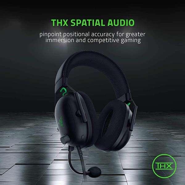 Razer BlackShark V2 Wired Gaming Headset with THX 7.1 Spatial Surround Sound