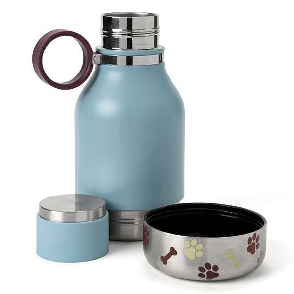 The Dual-Purpose Travel Water Bottle with Detachable Dog Bowl