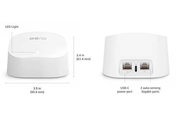 Amazon Eero 6 Dual-Band Mesh WiFi 6 Router with Zigbee Smart Home Hub