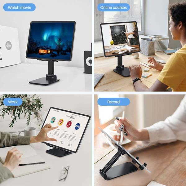 Anozer Foldable Tablet and Phone Stand with Adjustable and Extendable Design