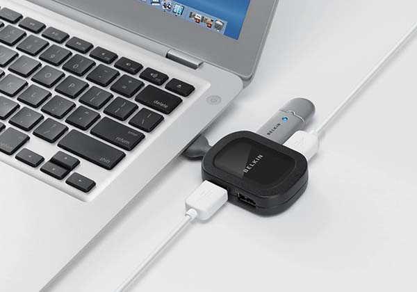 Belkin 4-Port Travel USB Hub