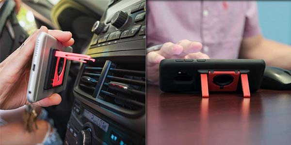 Flipside All-In-One Phone Grip Acts as Phone Stand and Car Vent Mount