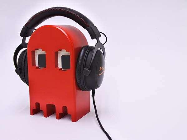 Handmade Headphone Holder Inspired by Pac-Man Ghosts