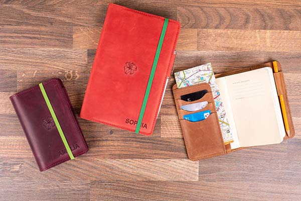 Handmade Moleskine Journal Leather Cover with Slots