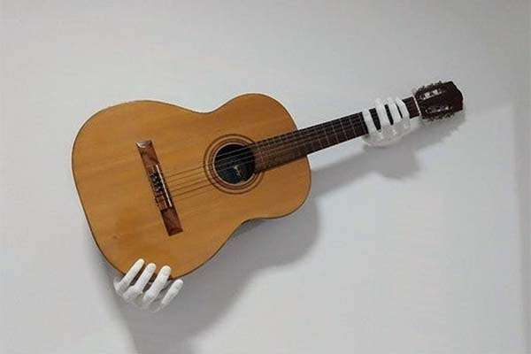 Hands 3D Printed Wall Mounted Guitar Holder