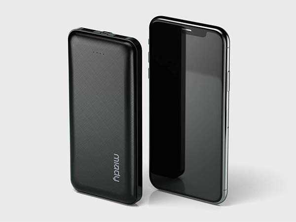 Miady 2-Pack Portable Power Bank with Dual USB Ports