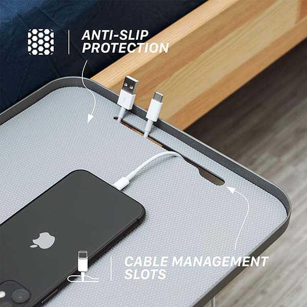 Monitormate ProShelf Aluminum Bedside Shelf with 2-Way Clamp System