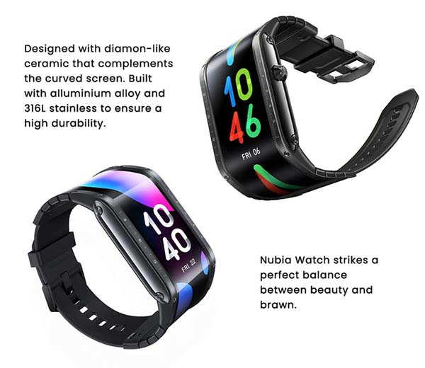 Nubia Watch Smartwatch with AMOLED Flexible Display