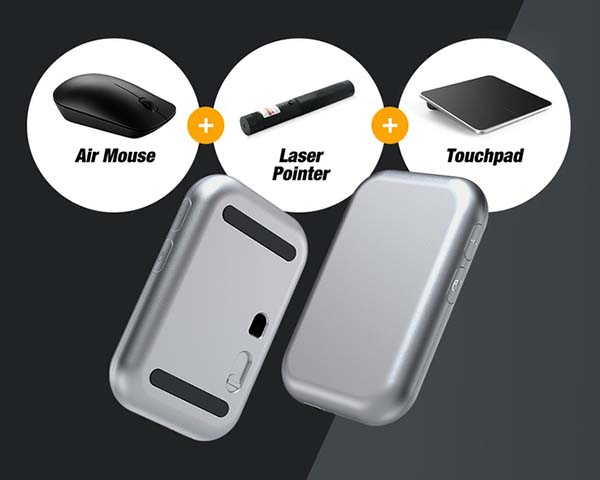 RaceMouse Travel Mouse with Laser Pointer and Touchpad