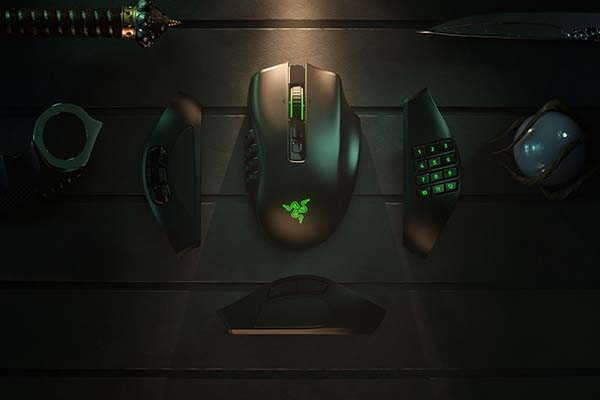 Razer Naga Pro Wireless Gaming Mouse with Interchangeable Side Plates