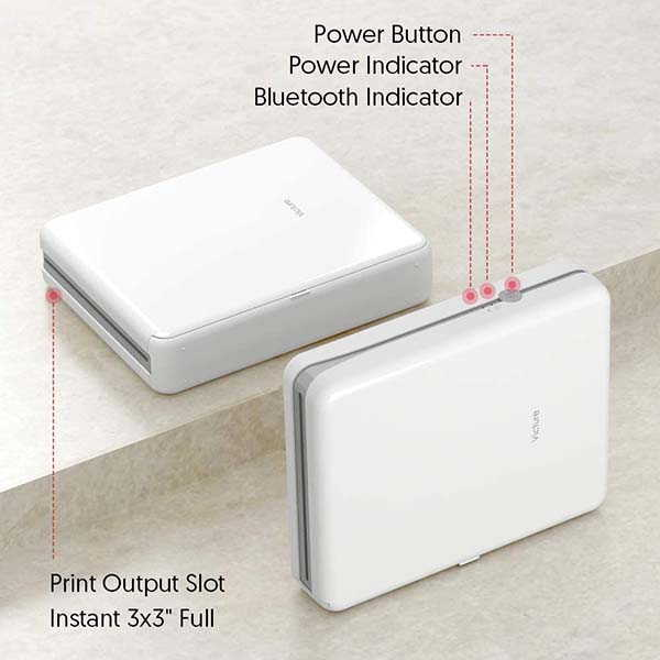 Victure 3x3 Portable Photo Printer with Bluetooth Connectivity