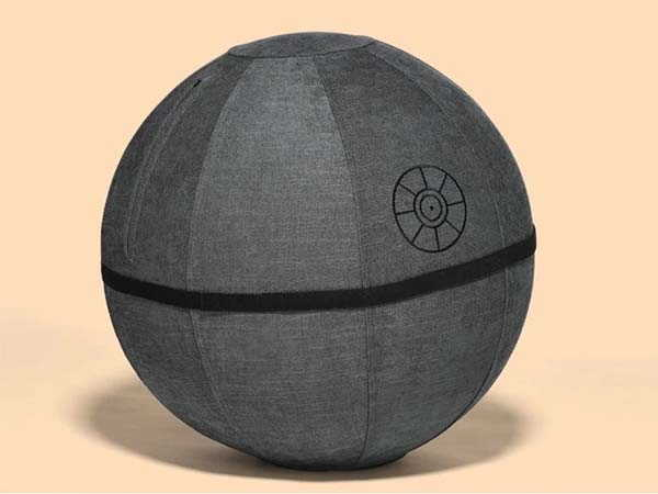 Yogibo Star Wars Exercise Ball Seat Inspired by Death Star