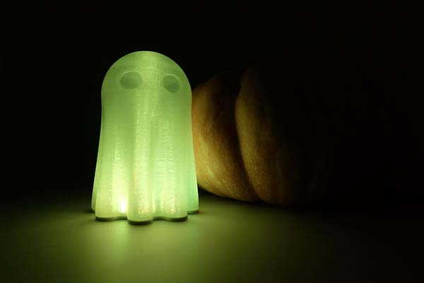 3D Printed Halloween Ghost LED Light