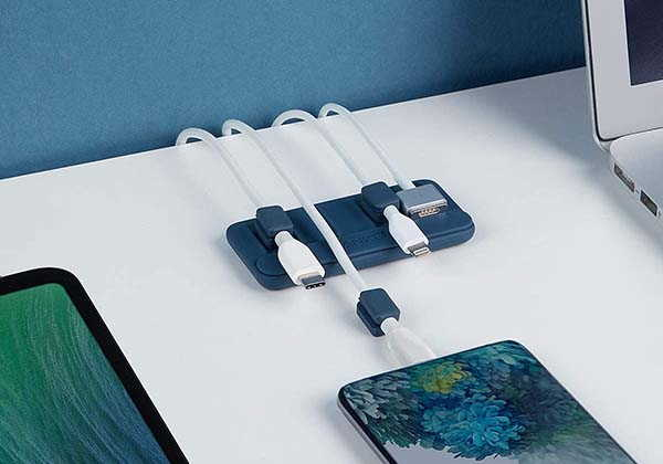Anker Desktop Magnetic Cable Organizer with 5 Clips