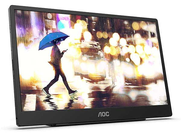 AOC 16T2 Portable USB-C Touch Monitor with Stereo Speakers