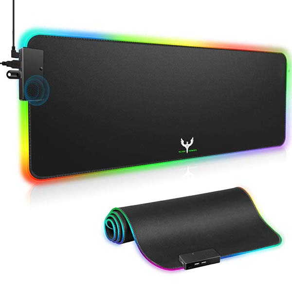 Blade Hawks RGB Gaming Mouse Pad with USB Hub and Speaker