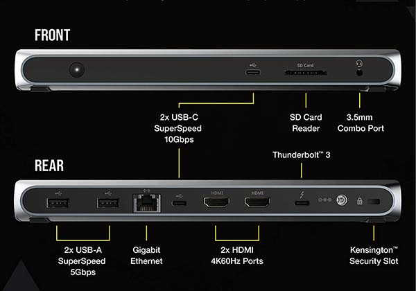 Corsair TBT100 Thunderbolt 3 Dock with Up to 85W Power Delivery