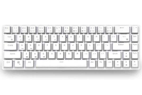 Epomaker S68 68-Key Bluetooth Mechanical Keyboard with White Backlight