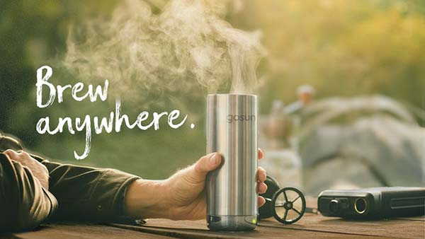 GoSun Brew Travel Coffee Maker with Portable Solar Power Bank