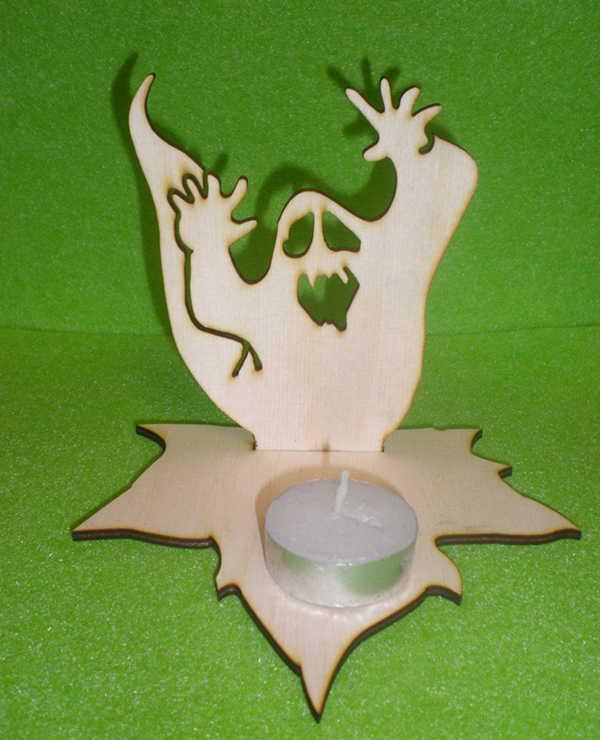 Handmade Halloween Ghost Tea Light Holder