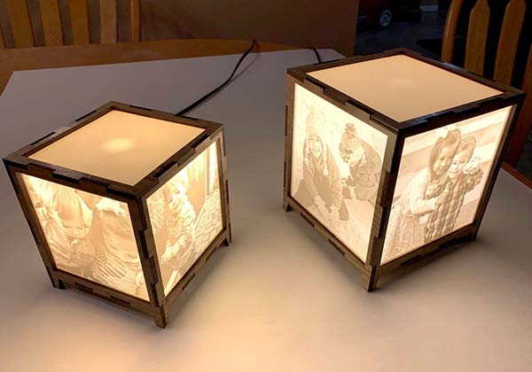 Handmade LED Photo Lamp with Personalization