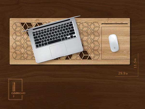 Handmade Wooden Laptop Lapdesk with Personalization