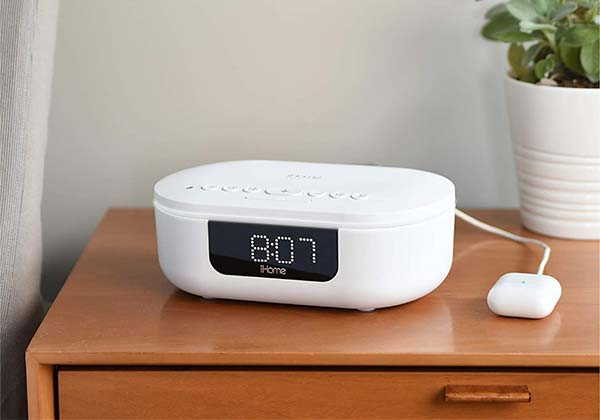 iHome Power Pro UVC Sanitizer with Bluetooth Speaker and Alarm Clock