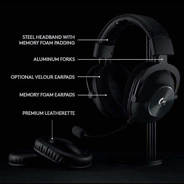 Logitech G Pro X Lightspeed Wireless Gaming Headset with Blue VO!CE Mic Technology