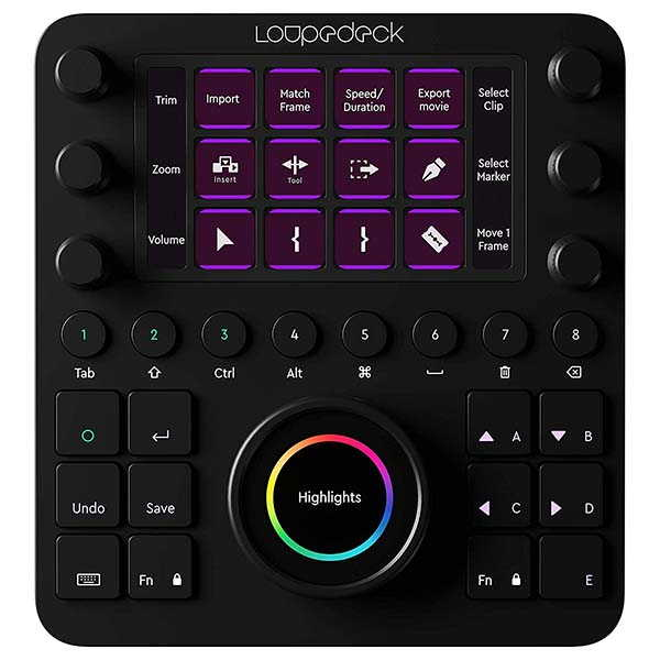 Loupedeck Creative Tool Custom Editing Console for Video, Music and Photo