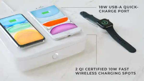 Mundus Pro UV-C Sanitizer with Wireless Charging Dock