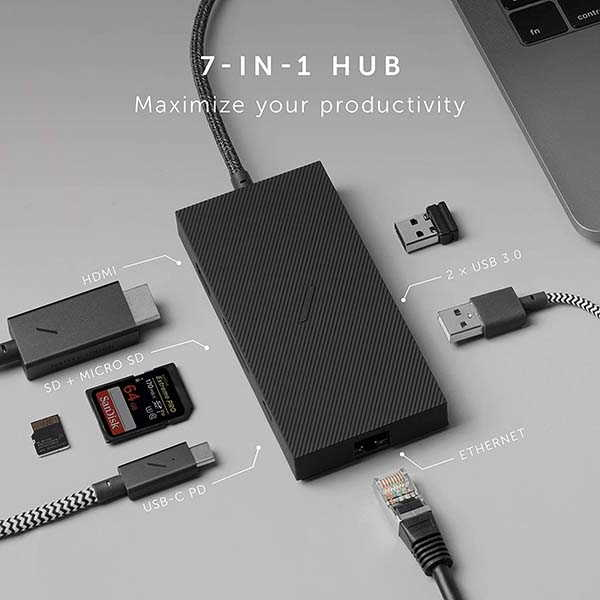 Native Union 7-In-1 USB-C Hub with Sleek Design Details