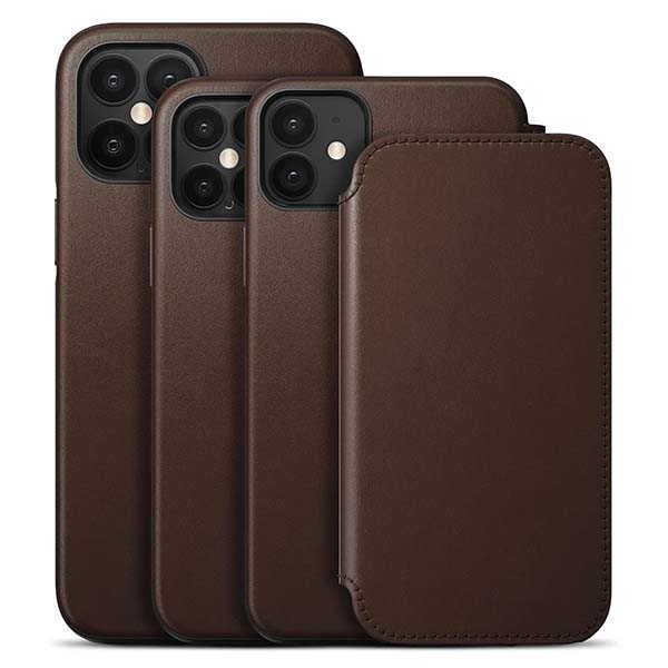 Nomad Rugged Folio iPhone 12 Leather Case