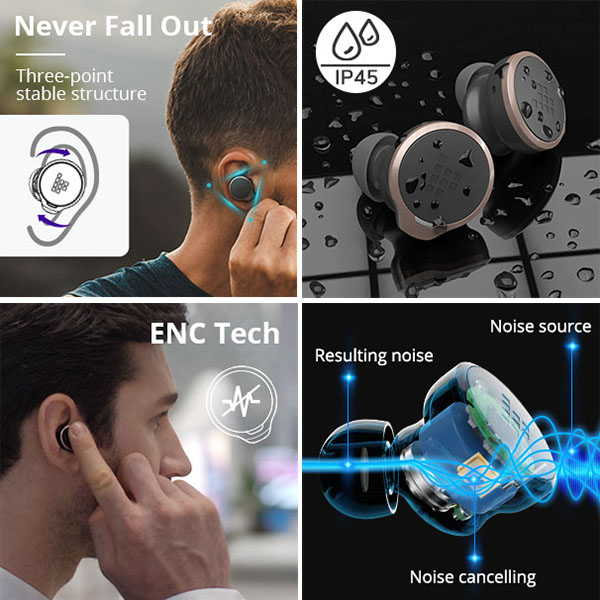 Tronsmart Apollo Bold ANC TWS Earbuds with IPX45 Waterproof Design