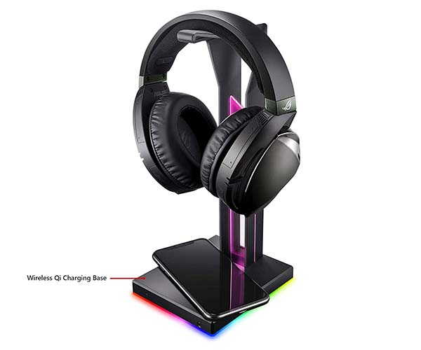 ASUS ROG Throne Qi Gaming Headset Stand with Wireless Charger and DAC