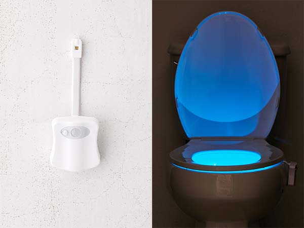 Brilliant Ideas Motion Sensor UVC Toilet Night Light