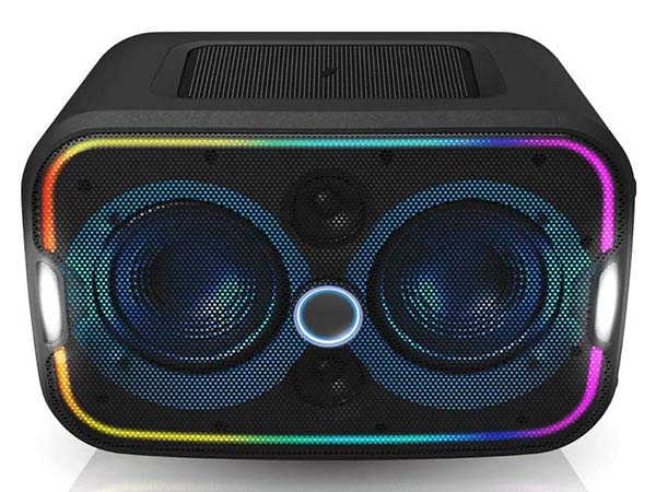 Brookstone Big Blue Go Bluetooth Party Speaker with Wireless Charger