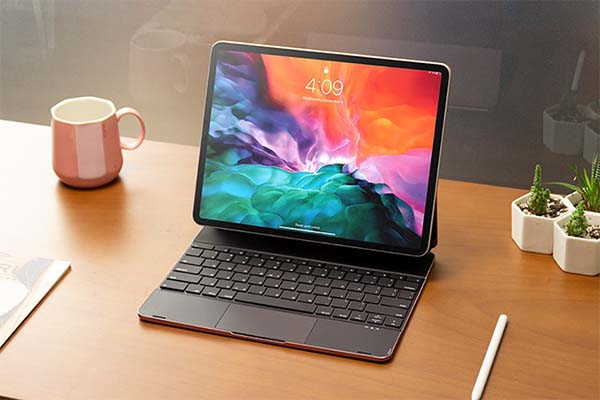 Doqo 2 iPad Keyboard with Touchpad with Backlight, Magnetic Attachment and More