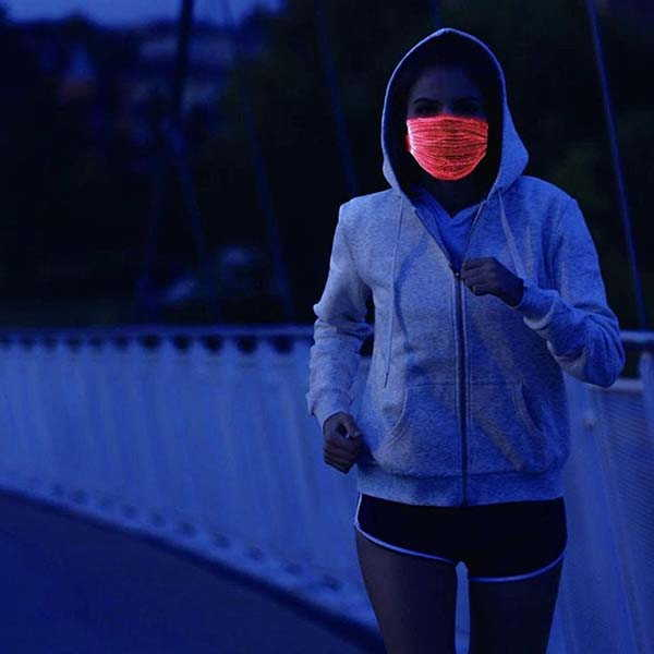 Handmade LED Face Mask with Color-Changing Lighting
