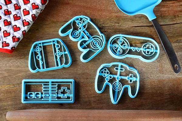 Handmade Nintendo Controller Cookie Cutter Set