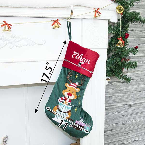 Handmade Personalized Christmas Stockings with Embroidered Names