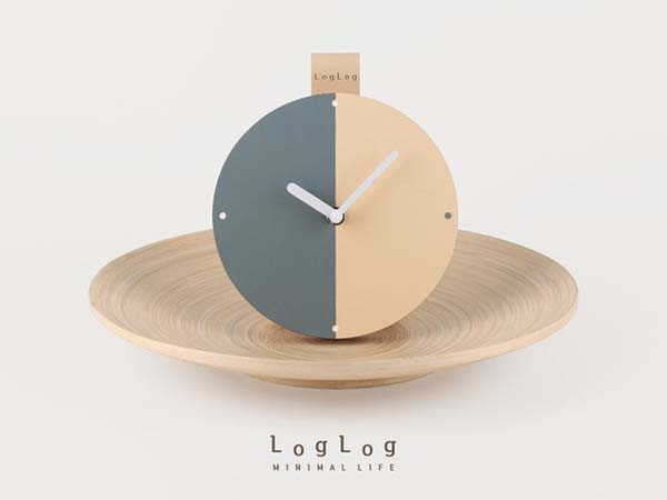 Handmade Wooden and Leather Table Clock