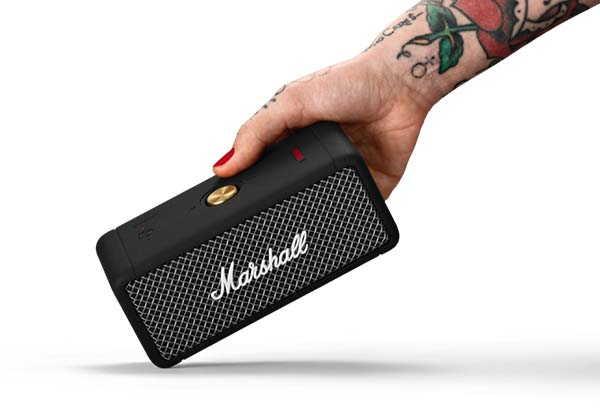 Marshall Emberton Portable Bluetooth Speaker with IPX7 Waterproof Rating