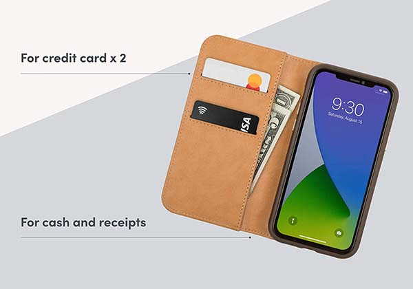 Moshi Overture iPhone 12 Case with Detachable Magnetic Wallet