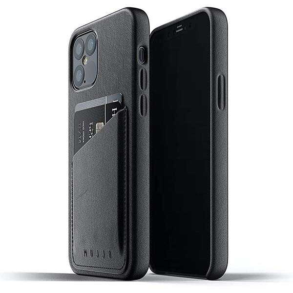 Mujjo Leather iPhone 12 Case with Card Wallet