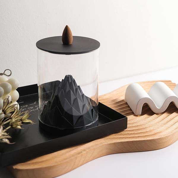 Nelumbo Handmade Concrete Backflow Incense Holder
